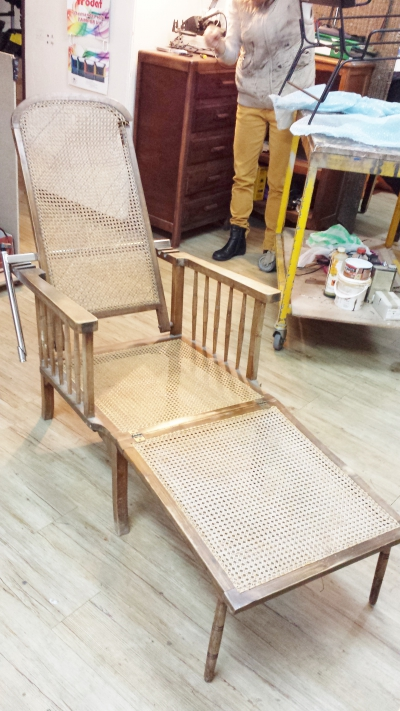 Restauration de chaise en cuir