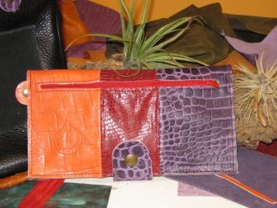 création porte-monnaie en cuir