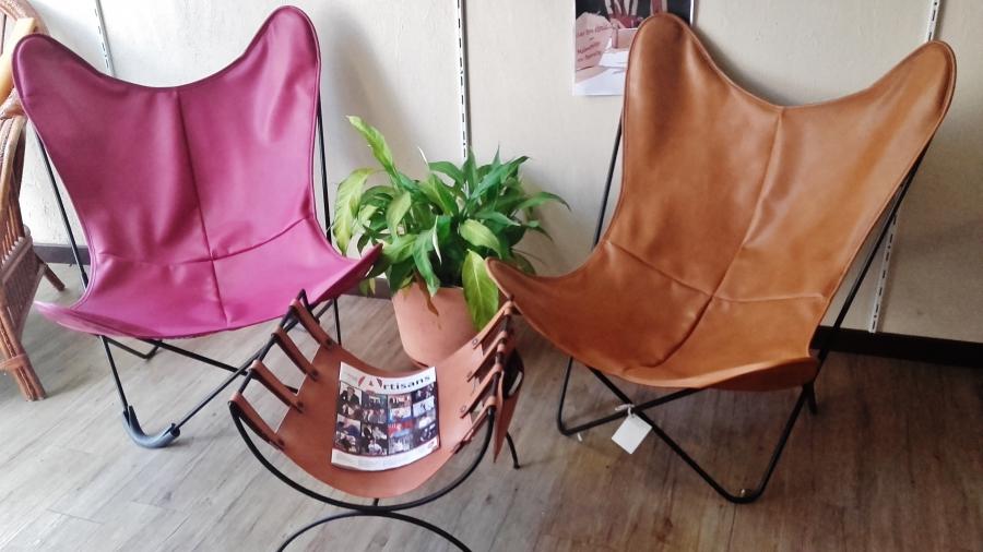 siège en cuir couleur création