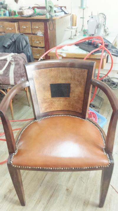 restauration de sièges en cuir